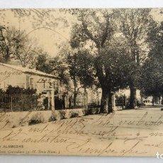 Postales: POSTAL LORCA - ALAMEDAS, AÑO 1907. Lote 84537460