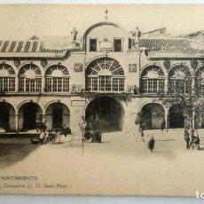 Postales: POSTAL LORCA - AYUNTAMIENTO, AÑO 1907. Lote 84537676