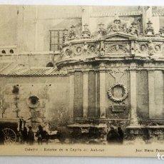 Postales: POSTAL MURCIA - CATEDRAL, EXTERIOR DE LA CAPILLA DEL JUNTERON, AÑO 1918. Lote 84721048
