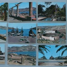 Postales: ANTIGUAS POSTALES CARTAGENA: CUARTEL MARINERIA, PUERTO, FLOTA, MUELLE, PARQUE TORRES, PLAZA TOROS.... Lote 86221500