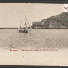 Postales: CARTAGENA - VISTAS TOMADAS DESDE EL DIQUE DE LA CURRA - PZ 10541 - REVERSO SIN DIVIDIR- (4000-27). Lote 86873580
