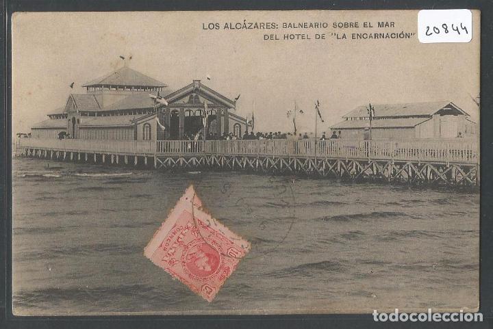 LOS ALCÁZARES - BALNEARIO SOBRE EL MAR DEL HOTEL DE LA ENCARNACIÓN - P20844 (Postales - España - Murcia Antigua (hasta 1.939))