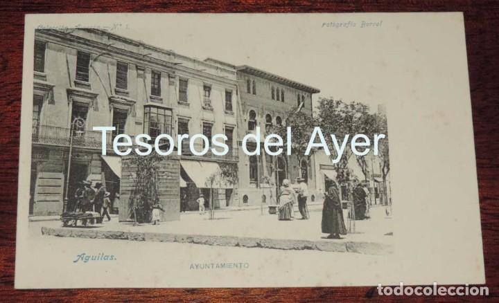 POSTAL DE MURCIA. AGUILAS. AYUNTAMIENTO. COLECCION ALARCON N.1. FOTOGRAFIA BORRET. NO CIRCULADA, REV (Postales - España - Murcia Antigua (hasta 1.939))