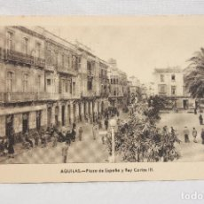 Postales: POSTAL AGUILAS, PLAZA DE ESPAÑA Y REY CARLOS III, EDICIONES ARRIBAS. Lote 89285912