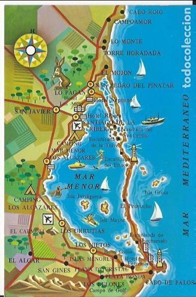 Mar Menor Mapa España.Mapa Del Mar Menor