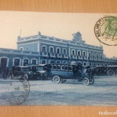 Postales: ANTIGUA POSTAL ANTIGUA POSTAL ESTACION FERROCARRIL MZA MURCIA. Lote 91750785