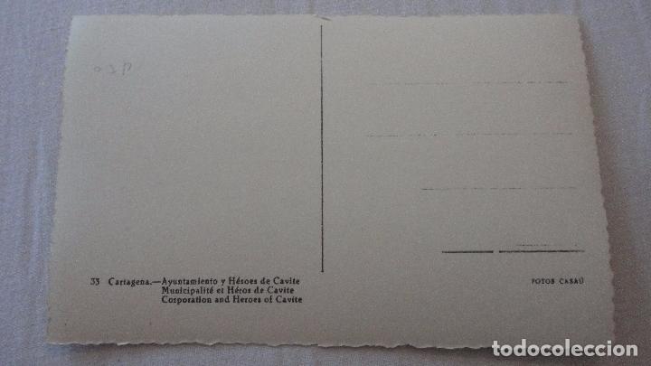 Postales: ANTIGUA POSTAL.AYUNTAMIENTO Y HEROES DE CAVITE.CARTAGENA.CASAU.Nº 33 - Foto 2 - 92748015