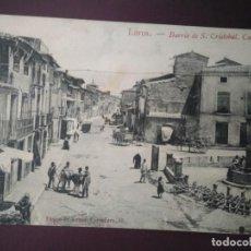 Postales: BARRIO DE SAN CRISTÓBAL. CALLE MAYOR. LORCA. SIN CIRCULAR.. Lote 93101515