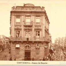 Postales: POSTAL DE CARTAGENA. BANCO DE ESPAÑA. CASAÚ. Lote 95534503