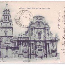 Postales: MURCIA: TORRE Y PORTADA DE LA CATEDRAL. HAUSER YMENET. SIN DIVIDIR. SOCIEDAD CARTÓFILA HISPANIA 1902. Lote 95732843
