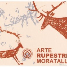 Postales: POSTAL ARTE RUPESTRE EN MORATALLA. Lote 96188651
