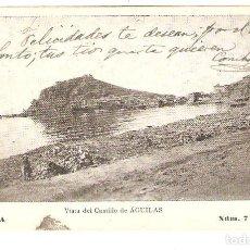 Postales: ÁGUILAS (MURCIA) VISTA DEL CASTILLO DE ÁGUILAS.. Lote 98061871