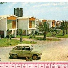 Postales: D50 POSTAL MANGA MAR MENOR MURCIA, BUNGALOWS CUBANOS Y SEAT 600. Lote 98438819