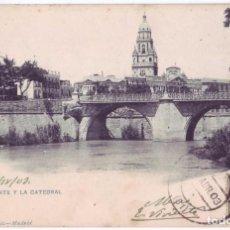 Postales: MURCIA: EL PUENTE Y LA CATEDRAL. HAUSER Y MENET. SIN DIVIDIR. SOCIEDAD CARTÓFILA HISPANIA (1903). Lote 98676575