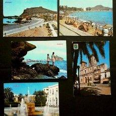 Postales: AGUILAS (MURCIA) LOTE 5 POSTALES DE AGUILAS -(AÑOS 60)-ED. HNOS. GALIANA Y SUBIRATS (NO CERCULADAS). Lote 99105707