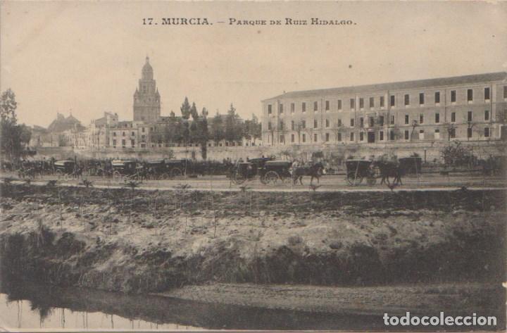 MURCIA - PARQUE DE RUIZ HIDALGO - EDICIÓN SUCESORES DE NOGUES (Postales - España - Murcia Antigua (hasta 1.939))