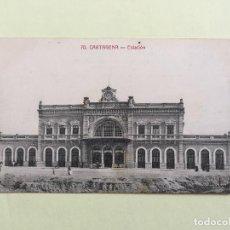 Postales: CARTAGENA- ESTACION - LA INDUSTRIAL FOTOGRAFICA. Lote 100288119