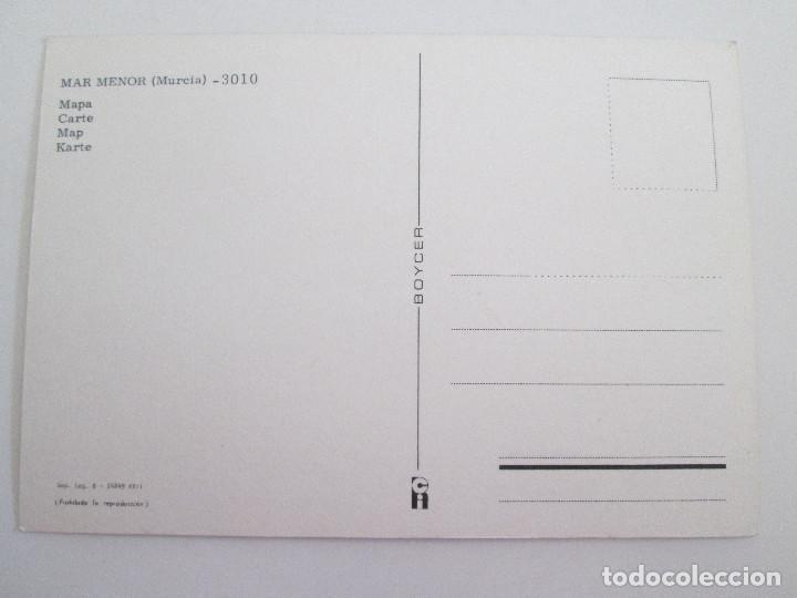 Postales: POSTAL MURCIA - LA MANGA DEL MAR MENOR - MAPA - 1979 - BOYCER 3010 - SIN CIRCULAR - Foto 2 - 101728495