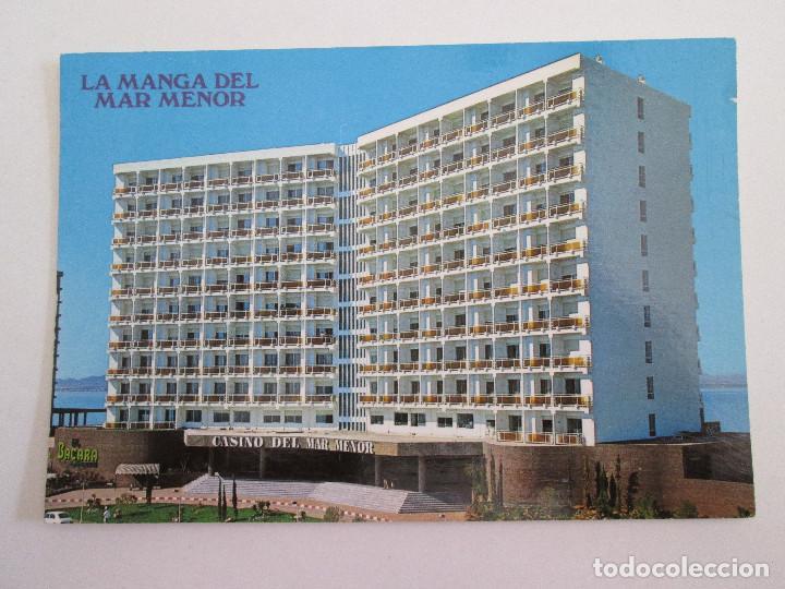 POSTAL MURCIA - LA MANGA DEL MAR MENOR - HOTEL DOBLEMAR CASINO - 1980 - BOYCER 3005 - SIN CIRCULAR (Postales - España - Murcia Moderna (desde 1.940))