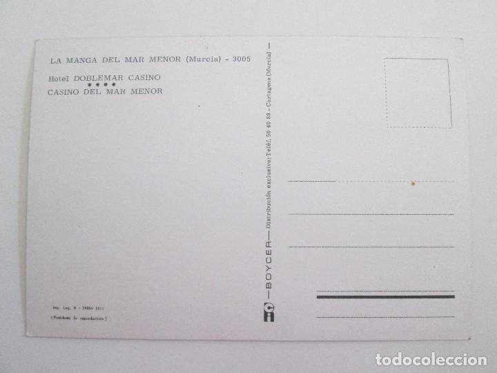 Postales: POSTAL MURCIA - LA MANGA DEL MAR MENOR - HOTEL DOBLEMAR CASINO - 1980 - BOYCER 3005 - SIN CIRCULAR - Foto 2 - 101728639