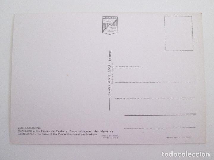 Postales: POSTAL MURCIA - CARTAGENA- MONUMENTO A LOS HEROES DE CAVITE Y PUERTO -1971-ARRIBAS 2010-SIN CIRCULAR - Foto 2 - 102490211