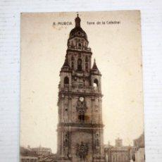 Postales: ANTIGUA POSTAL DE MURCIA. TORRE DE LA CATEDRAL. CIRCULADA. Lote 107191851