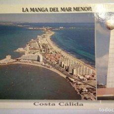 Postales: POSTAL LA MANGA DEL MAR MENOR, COSTA CÁLIDA. MURCIA. AÑOS 90. Lote 107945679