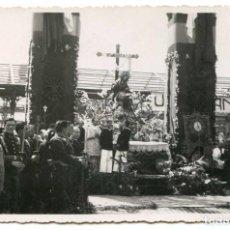 Postales: MISA DE CAMPAÑA RECIÉN TERMINADA LA GUERRA CIVIL. POSTAL FOTOGRÁFICA. CASAÚ, CARTAGENA. Lote 109006927