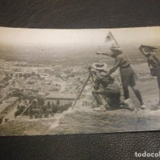 Postales: TARJETA POSTAL FOTOGRAFICA MURCIA 1939 CENSURA GUERRA CIVIL CAMPAMENTOS EXPLORADORES BOY SCOUTS. Lote 109447031