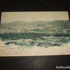 Postales: CARTAGENA MURCIA VISTA DESDE EL BARRIO DE LA CONCEPCION H Y M REVERSO SIN DIVIDIR CIRCULADA EN 1903. Lote 110130387