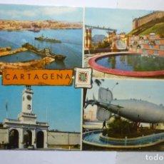 Postales: POSTAL CARTAGENA.-VARIAS VISTAS- ESCRITA. Lote 111454419