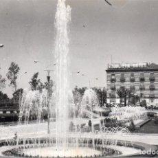 Postales: MURCIA, GLORIETA ESPAÑA, FUENTES, AL FONDO HOTEL VICTORIA. Lote 111868835
