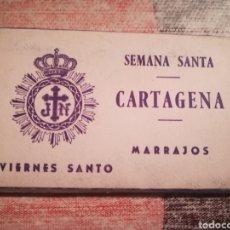 Postales: SEMANA SANTA CARTAGENA - MARRAJOS - MINILIBRO CON 12 POSTALES VIERNES SANTO - 1962. Lote 113353911