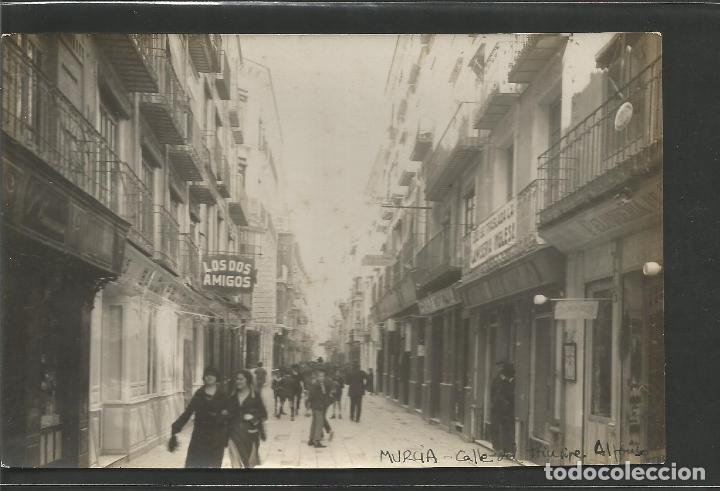 MURCIA - CALLE PRINCIPE ALFONSO - FOTOGRAFICA - ARCHIVO ROISIN - VER REVERSO - (51.994) (Postales - España - Murcia Antigua (hasta 1.939))