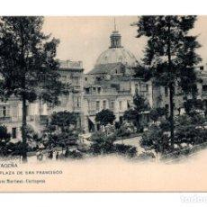 Postales: CARTAGENA (MURCIA).- PLAZA SAN FRANCISCO , HAUSER Y MENET, POSTAL SIN DIVIDIR. Lote 115253767