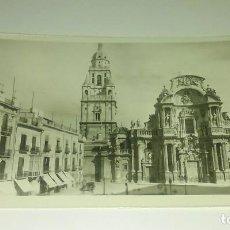 Postales: MURCIA - PLAZA DEL CARDENAL BELLUGA Y CATEDRAL. Lote 118381479