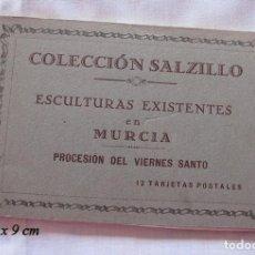 Postales: BLOC DE 12 POSTALES ANTIGUAS SALCILLO MURCIA SEMANA SANTA. Lote 133807071