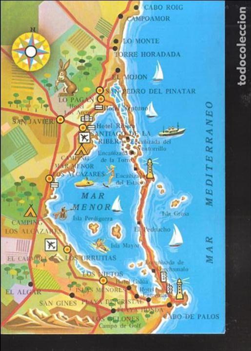 Mar Menor Mapa España.Mapa Del Mar Menor Murcia