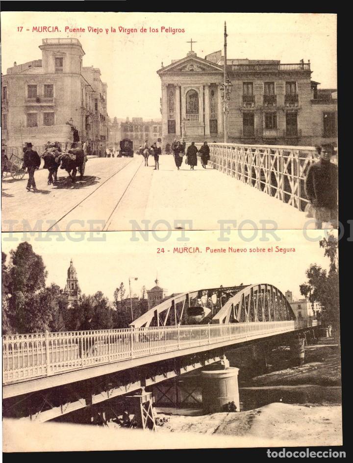 Postales: Murcia 11 hermosas tarjetas postales fototipia Thomas ca 1900 - Foto 2 - 121900791