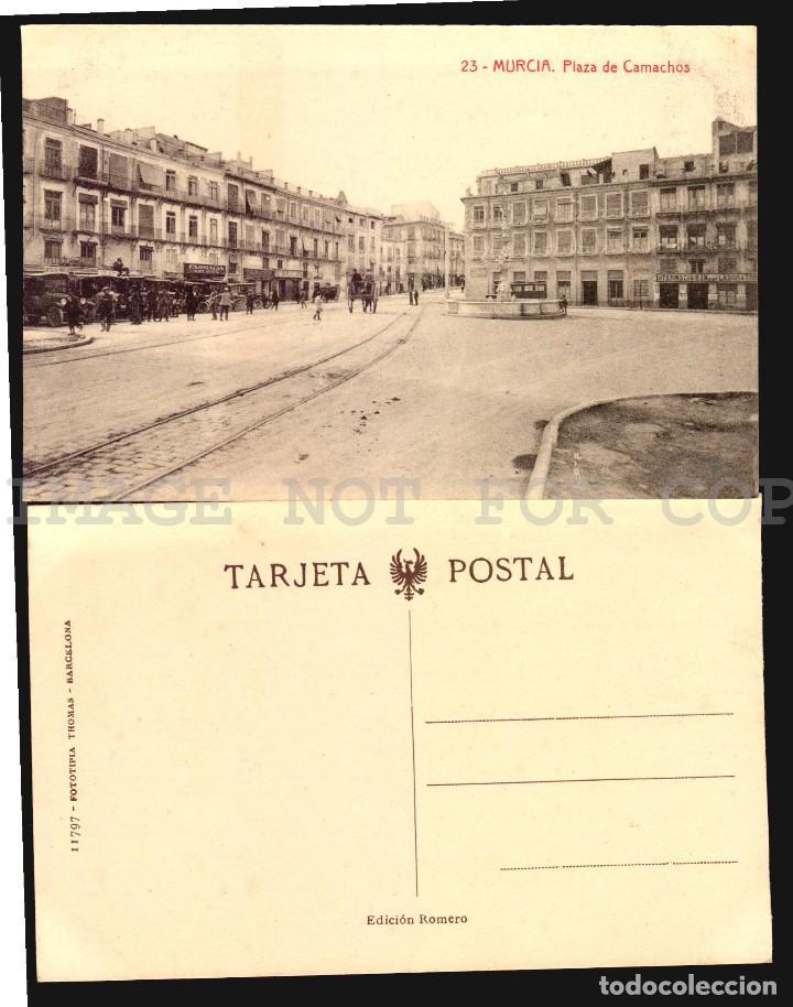 Postales: Murcia 11 hermosas tarjetas postales fototipia Thomas ca 1900 - Foto 3 - 121900791
