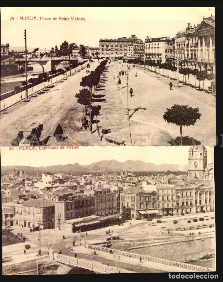 Postales: Murcia 11 hermosas tarjetas postales fototipia Thomas ca 1900 - Foto 4 - 121900791