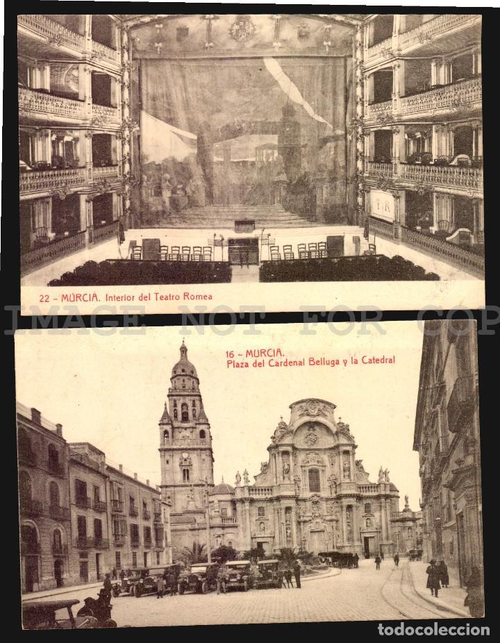 Postales: Murcia 11 hermosas tarjetas postales fototipia Thomas ca 1900 - Foto 5 - 121900791