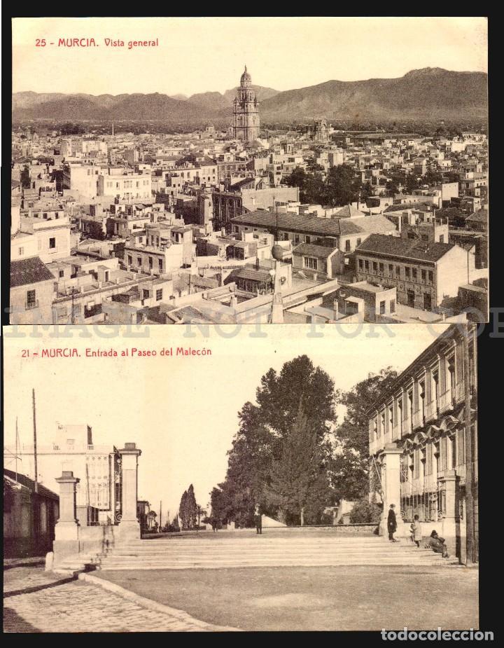 Postales: Murcia 11 hermosas tarjetas postales fototipia Thomas ca 1900 - Foto 6 - 121900791