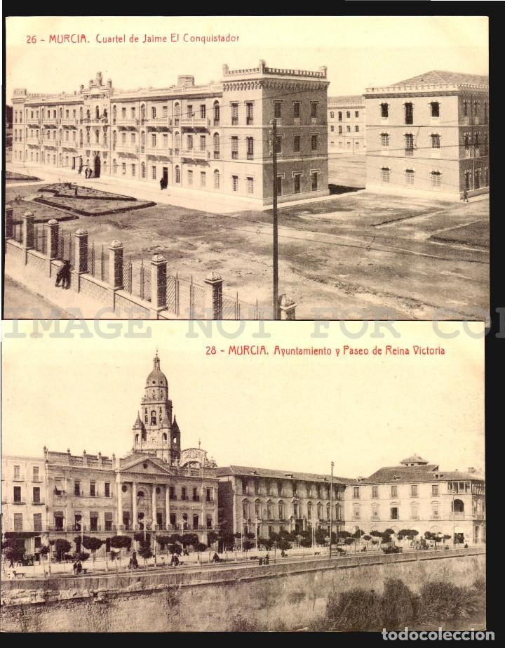 Postales: Murcia 11 hermosas tarjetas postales fototipia Thomas ca 1900 - Foto 7 - 121900791