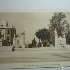 Postales: POSTAL MURCIA - PORTALADA PASEO MALECON CM. Lote 124101003