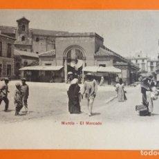 Postales: MURCIA- TARJETA POSTAL- EL MERCADO- PRINCIPIOS SIGLO XX. Lote 124092911