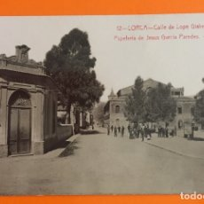 Postales: LORCA- MURCIA- TARJETA POSTAL- CALLE DE LOPE GISBERT- PRINCIPIOS SIGLO XX. Lote 124180187