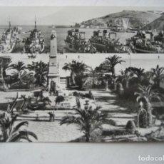 Postales: CARTAGENA Nº 51. HÉROES DE CAVITE Y LA ESCUADRA EN EL PUERTO. FOTO CASAÚ. ESCRITA. Lote 124502763