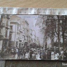 Postales: MURCIA - CARTAGENA - POSTAL FOTOGRAFICA CALLE DEL DUQUE. Lote 124584599