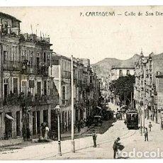 Postales: MURCIA CARTAGENA CALLE DE SAN DIEGO. EDICION EFIGENIO, SIN CIRCULAR. Lote 125936431